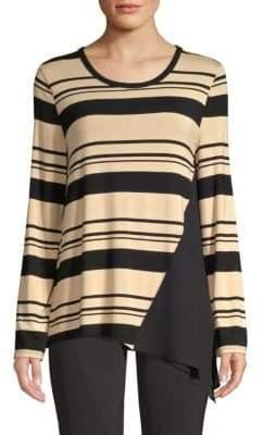 Donna Karan Stripe Jersey Top