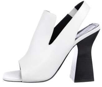 Celine Leather Slingback Sandals