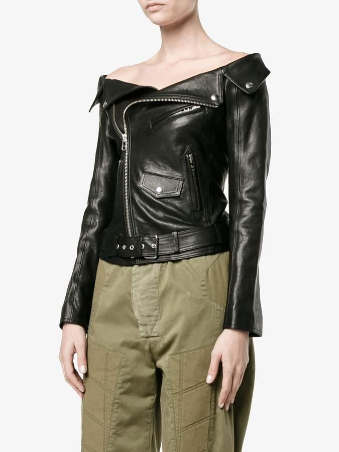 Faith Connexion off-shoulder biker jacket