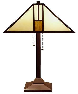 Warehouse Of Tiffany Tiffany Style White Mission-style Table Lamp (Lamp Only)