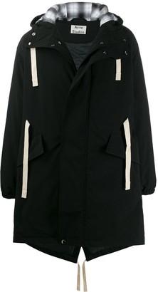 Acne Studios contrast drawstrings padded parka coat