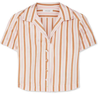 Frame Striped Jacquard Top - Orange