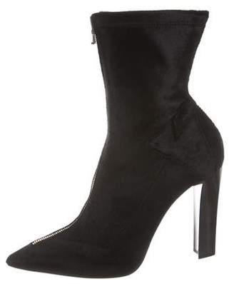 Roland Mouret Pointed-Toe Ponyhair Ankle Boots w/ Tags