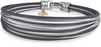 Alor Noir Multi-Row Micro-Cable Bangle Bracelet, Multi