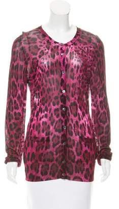 Dolce & Gabbana Cheetah Printed Knit Cardigan