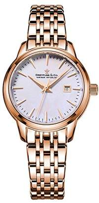 Dreyfuss & Co Dreyfuss Womens Analogue Classic Quartz Watch with Stainless Steel Strap DLB00129/41