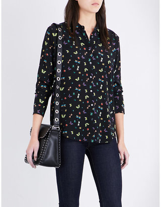 The Kooples Insect-print silk shirt $295 thestylecure.com