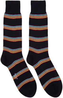 Paul Smith Black Block Stripe Socks