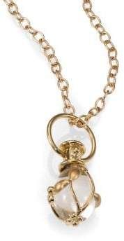 Temple St. Clair Tree of Life Rock Crystal, Diamond& 18K Yellow Gold Small Vine Amulet