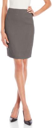 Armani Collezioni Chevron Pencil Skirt