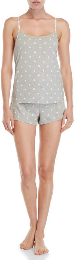 Calvin Klein Two-Piece Star Print Carousel Shelf Bra Camisole & Shorts PJ Set