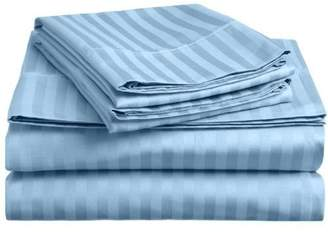 """3.1 Phillip Lim Rinku Linen Cutomer Satisfaction 300 Thread Count 100% Egyptian Cotton Feel Soft Deliciously 4-Piece Sheet Set (60"""" x 75"""") Stripe Fit Up to Inches Deep Pocket ."""