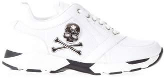 Philipp Plein In My Mind White Suede & Mesh Sneakers