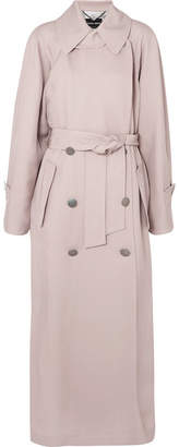 Giorgio Armani Silk-satin Trench Coat - Beige