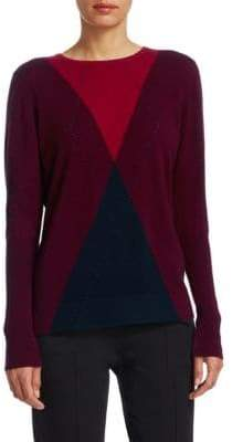 Akris Punto Wool& Cashmere Argyle Sweater