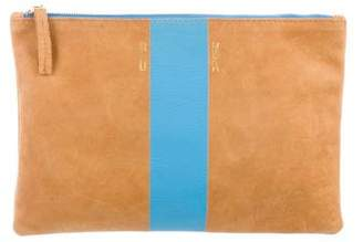 Clare Vivier Striped Zip Pouch