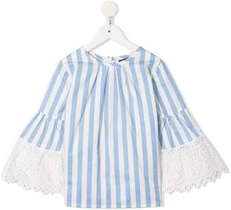 Oscar de la Renta Kids striped long-sleeve blouse