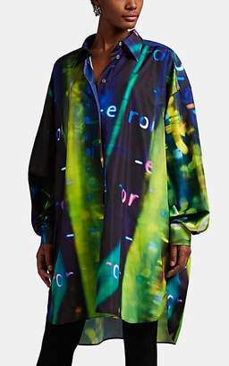 Maison Margiela Women's Abstract-Print Oversized Shirtdress - Black