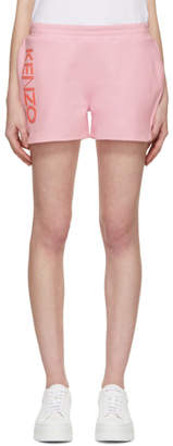 Kenzo Pink Logo Sport Shorts