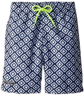 Toobydoo Blue White Patterned Swim Shorts Boy's Swimwear