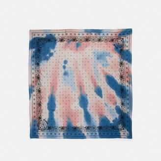 Coach Tie Dye Bandana Print Silk Square Scarf