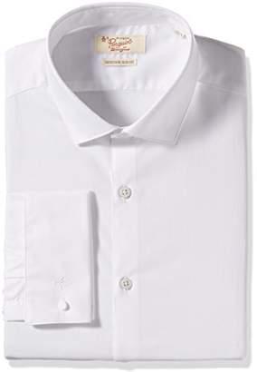Original Penguin Men's Slim Fit Performance Spread Collar Stripe Dress Shirt
