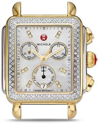 Michele Deco Diamond Two-Tone Watch Head, 33mm x 35mm