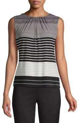 Calvin Klein Sleeveless Stripe Print Sleeveless Tank
