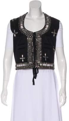 Givenchy Embellished-Accented Vest