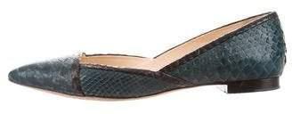 Alexandre Birman Python Pointed-Toe Flats