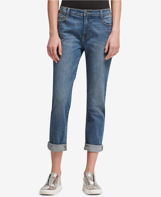 DKNY Soho Distressed Boyfriend-Fit Jeans