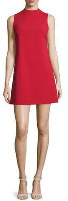 Alice + Olivia Coley Mock-Neck Sleeveless Shift Dress $295 thestylecure.com