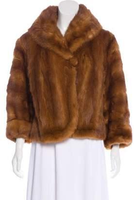 Long Sleeve Short Fur Coat