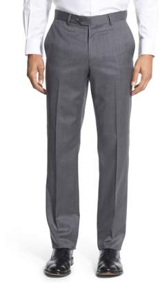 Nordstrom Flat Front Wool Trousers