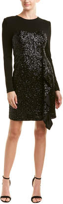 Nicole Miller Silk-Trim Cocktail Dress