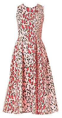 Carolina Herrera Women's Sleeveless Leopard A-Line Dress