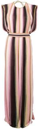 M Missoni striped metallic maxi dress
