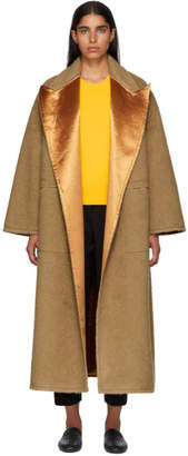 Bottega Veneta Beige Camel Hair Oversized Coat