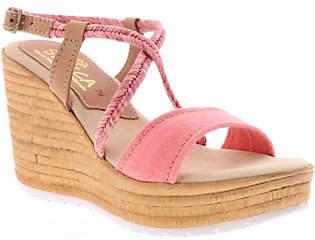 Sbicca Fabric Wedge Sandals - Alisanna