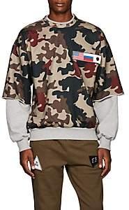 Gosha Rubchinskiy Men's Patch-Detailed Camouflage Cotton Sweatshirt - Green
