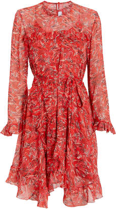 IRO Floral Ruffle Trim Dress