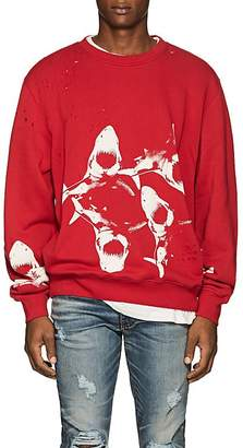 Amiri Men's Shark-Print Cotton Sweatshirt