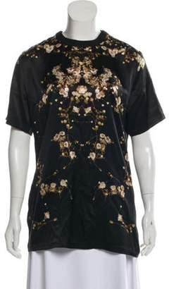 Givenchy Silk Baby's Breath T-Shirt Black Silk Baby's Breath T-Shirt