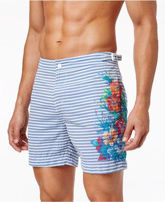 Tommy Hilfiger Men's Vintage Pacific Seersucker Floral Stretch Hybrid Shorts $69.50 thestylecure.com