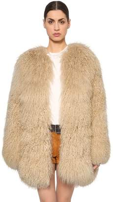 Saint Laurent Mongolian Fur Coat