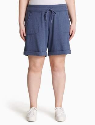 Calvin Klein plus size performance drawstring cuffed shorts