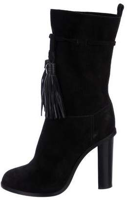 Lanvin Suede Tassel-Accented Boots