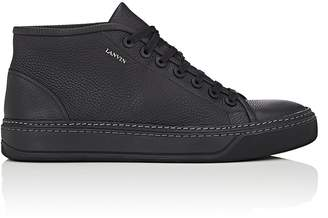 Lanvin Men's Grained Leather Sneakers