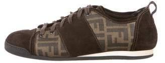 Fendi Suede-Trimmed Zucca Sneakers