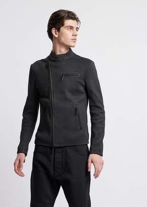 Emporio Armani Perforated Soft Nappa Jacket With 3D Effects
